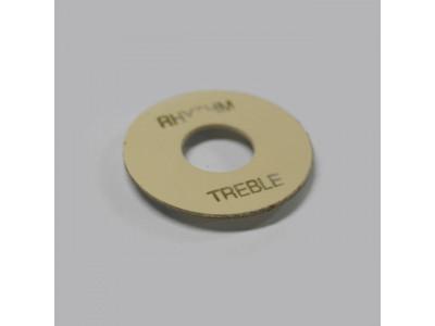 Qparts PTGCIV Aged Collections Toggle Switch Plate (Schalterplatte) creme, rund, Plastik
