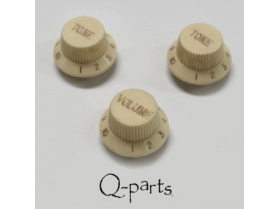 Qparts PSV100ADWH Aged Collections Potiknopf creme Set, Kunststoff, 1x Volume, 2x Tone für ST Modelle