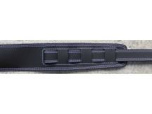 Bull Gitarrengurt 201042, schwarzes Leder, gepolstert, mit Doppelnaht
