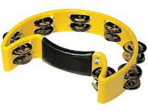 LH Drums TM150 Schellenkranz Halbmond, 24 cm gelb mit 8 Paar Schellen