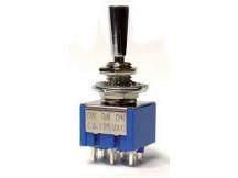 Allparts EP0080-010 Mini-Schalter, On-On-On, chrom