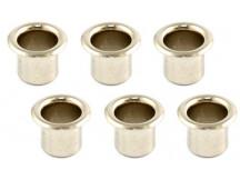 Allparts Hülsen für Mechanik (Führungsbuchen), Vintage vernickelt, innen 6,2mm, außen 7,3mm (6Stück)
