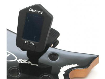 Cherry Music Cliptuner CT201, Stimmgerät, schwarz gummierte Oberfläche