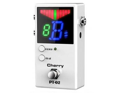 Cherry Music Pedaltuner PT02, Bodenstimmgerät white, mit True Bypass