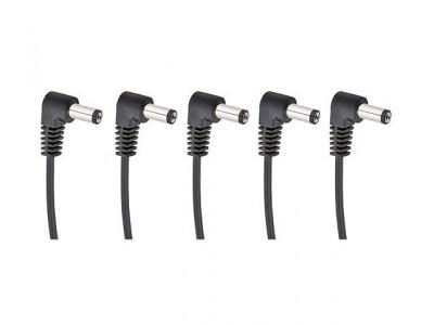 Cherry Music S5 Daisychain Kabel, Niedervolt Stromverteilerkabel für 5 Effektgeräte mit Winkelstecker