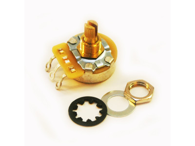 CTS-B250S, Potentiometer (Poti), 250K-Ohm linear, kurze Achse, für 10mm Bohrung