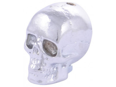 Qparts Potiknopf Jumbo Skull 2, chrome, face up
