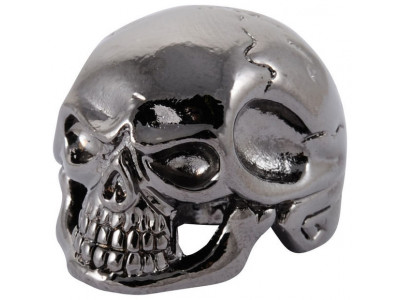 Qparts Potiknopf Jumbo Skull 1, black chrome, face straight
