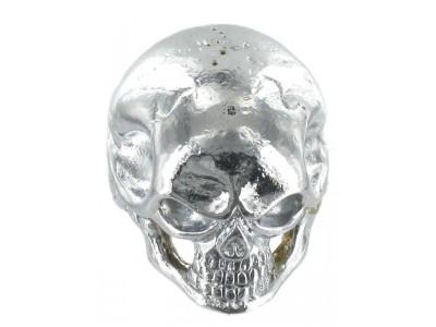 Qparts Potiknopf Jumbo Skull 1, chrome, face straight