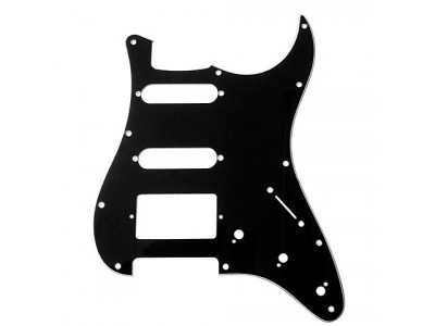 RS Guitar Parts - Pickguard Strat® Style SSH / Black 3Ply, NEU,