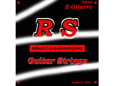 RS Guitar Parts 0942 Saiten für E-Gitarre 009-042 light, made in USA!