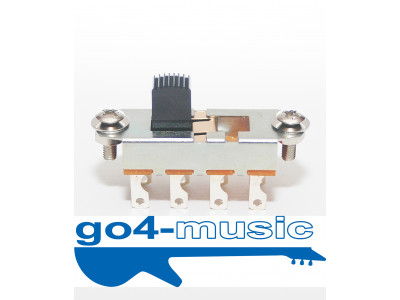Hosco SON-OFF-ONB 3-weg Slide Switch, z.B. für Fender Mustang