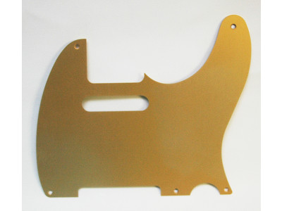 """Qparts Aged Collections Tele Pickguard 57 gold anodized, Alu 1,016mm (0,04"""") dick, 5 Schraubenlöcher"""