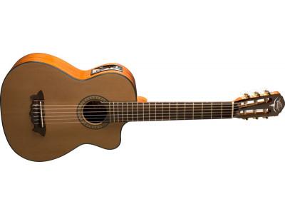 Oscar Schmidt OH30SCE-NT Requinto Latin Guitar, inkl. Gigbag